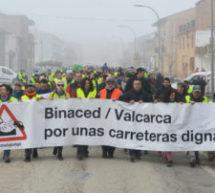 Binaced y Valcarca reivindican unas carreteras dignas
